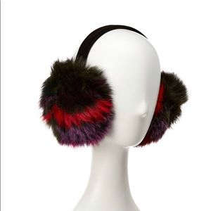 Qi Cashmere 100% Fox Fur EarMuffs
